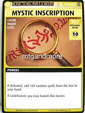 Pathfinder Adventure Card Game - 1x Mystic Inscription - Character Add-On