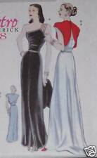 1948 Classic RETRO EVENING GOWN pattern WEDDING 6 -12