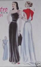 1948 Classic RETRO EVENING GOWN pattern WEDDING 6 -12