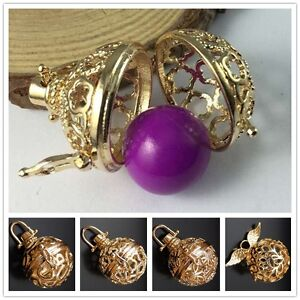 Gold Openable Mexican Bola Bell Harmony Ball Angel Caller Locket Pendant
