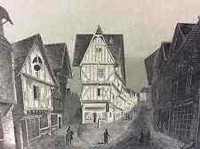 Grande rue de Laval première moitié XIXe Mayenne