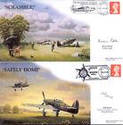 CC65AB Battle of Britain 87 sqn RAF cover signed artist + 238 sqn signed BOND