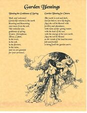 Book of Shadows Spell Pages ** Garden Blessings ** Wicca Witchcraft BOS
