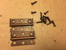 Vintage Zenith Copper Hinges & Hardware for 1960s Tube Stereo Console