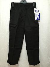 BNWT Boys Sz 8 LW Reid Brand Black Double Knee Elastic Waist School Pants