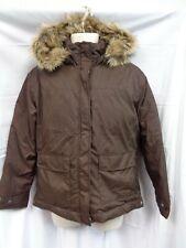 Columbia Brown detachable hood down jacket coat women's L