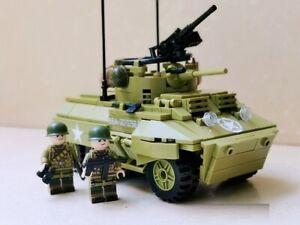 WWII US British M8 light Armored car Greyhound World War 2 USA moc tank WW2 UK