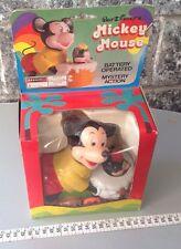 Vintage 70S Disney Mickey Mouse Battery Operated Bavarelli Nib Very Rare