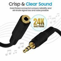 """3,5 mm Audio Verlängerungskabel Stereo 1/8 """"Kopfhörerkabel auf Stecker Buch Q6U4"""