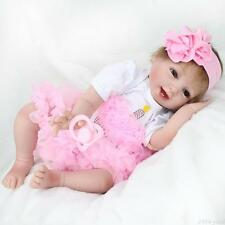 "Kids Best gift Reborn Baby Girl Doll Silicone Vinyl Newborn likelife toys 22"" US"