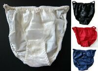 1 NEW VTG 100% Polyester Satin String Bikini Floral Lace Panties SZ S, M, L