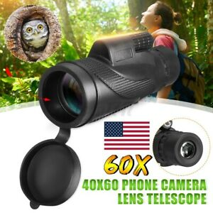 Day & Night Vision Monocular Telescope Waterproof 40X60 Zoom Optical HD Lens
