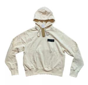 Adidas x Parley Gender Neutral Unitefit Cream Hooded Sweatshirt Size L HB3305