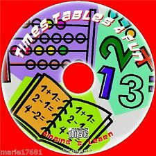 TEACH KIDS TIMES TABLES FUN LEARN / SING 2X-12X MULTIPLICATION TABLES EDUCATION