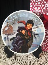 "Norman Rockwell - Knowles Limited Ed. 1982 ""Christmas Courtship"" Collector Plate"
