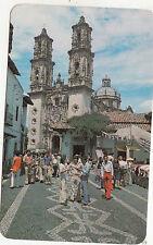 BF17817 taxco gro mexico calle san agustin y la parroquia de st front/back image