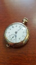 Vintage Locust Swiss Made Gold Filled Seven Jewel Pocket Watch For Parts