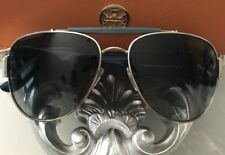 NWT TORY BURCH Women's Sunglasses Aviator Oversized Silver / Navy Blue $200