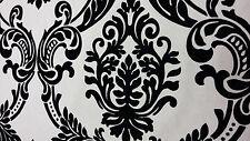 BRAMPTON  FABRIC By Ashley Wilde Designs~ BLACK FLOCK/LINEN BLEND