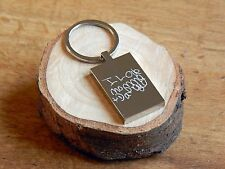 Personalised drawing and handwriting Key ring - GREAT GIFT