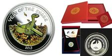 2013 Laos Large Proof  Silver 1000 Kip Year of Snake-Box