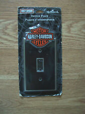 Harley Davidson Motor Cycles Metal Plate Single Light Switch Cover by Hallmark