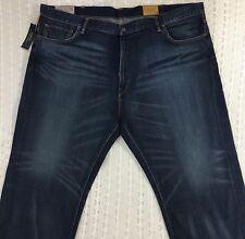 Men's POLO RALPH LAUREN Hampton Straight Blue Jeans 50Bx30 50 30 NWT $125 New