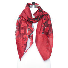 d340aa7f994f2 Indian Red Floral Viscose Stole Long Shawl Wrap Fashion Lightweight Womens  Scarf