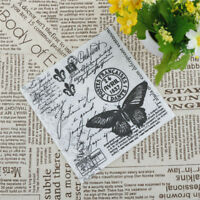 20pcs Black Butterfly Vintage Table Paper Napkins Wedding Birthday Party DecoTR