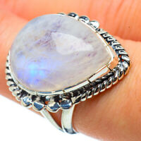 Rainbow Moonstone 925 Sterling Silver Ring Size 6.75 Ana Co Jewelry R32890F