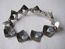 Vintage Modernist Silver Alton Swedish Bracelet Chalcedony 1960s