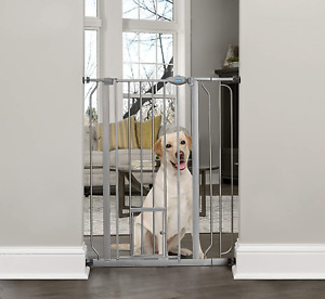 Carlson Extra Tall Walk Through Pet Gate with Small Pet Door, Includes 4-Inch 4