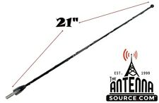 "21"" Black Spring Stainless AM/FM Antenna Mast Fits: 2017-2018 Ford F-250"