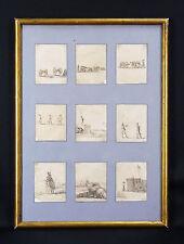 Israël Silvestre (1621-1691 / Stefano Della Bella (1610-1664)Série de 9 GRAVURES