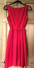 Vintage Midi ~ Fit and Flare ~ Red 1960s ~ Women's Dress ~ Modern XS/Small
