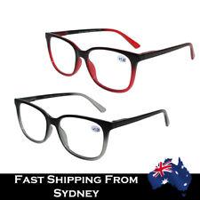 Men Women Full Rim Reading Glasses Spring Loaded Retangcle Shape 1.0~3.5