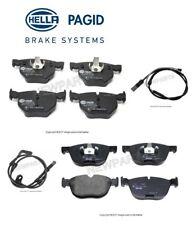 For BMW E70 E71 X5 X6 xDrive30i 35i Front & Rear Brake Pad Set & Sensors Hella