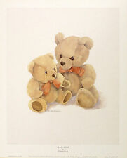 "Christine Groves ""Peach Bows"" Teddy PRINTNew SIZE:29cm x 36cm BROWSE OUR SHOP"