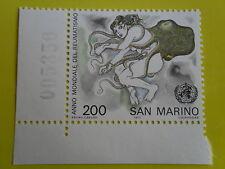 SAN MARINO 1977 ANNO MONDIALE REUMATISMO  200 L. ANGOLO FOGLIO NUMERO CONTROLLO