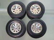 Tamiya Toy RC 1/14 Aluminum Rear Wheel Rim Tire Set Semi Truck Tractor