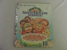 LITTLE GOLDEN BOOK CABBAGE PATCH KIDS XAVIER'S BIRTHDAY SURPRISE 1987