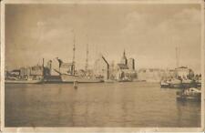 Stralsund, Schiff, Segelschiff, Dampfer im Hafen, Foto-Ansichtkarte von 1942