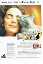 PUBLICITE ADVERTISING 126  1993   Sheba  le cadeau tendresse  pour chat aliments