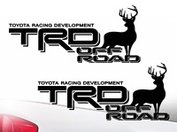 TOYOTA TRD OFF ROAD Deer Elk Tacoma Tundra Decal Sticker truck Offroad Decals HQ