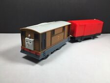2012 Thomas Train TrackMaster Talking Toby with Red Box Car Tested And Works