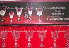 Cristal d'arques 6 verres a vin blanc ou a porto en cristal modele tuilerie