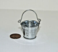 Miniature Tin Bucket in 1:12 doll scale