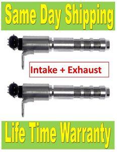 12636175 2x Engine Variable Valve Timing Solenoid VVT Valve Intake + Exhaust