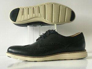 Cole Haan Original Grand Wingtip Oxford Black White Men's Size 12 (C20775)
