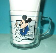 Disney Mickey Mouse Break Time Clear Glass Mug Cup